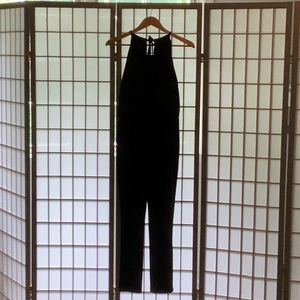 White House Black Market Black Jumpsuit. Sz 4P